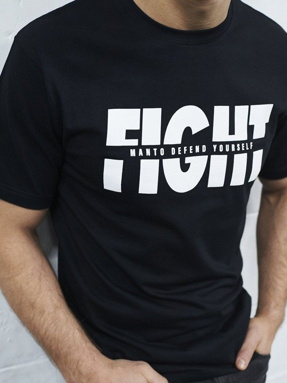 MANTO t-shirt FIGHT czarny